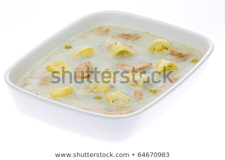 aspic with chicken meat and artichokes Stock photo © phbcz