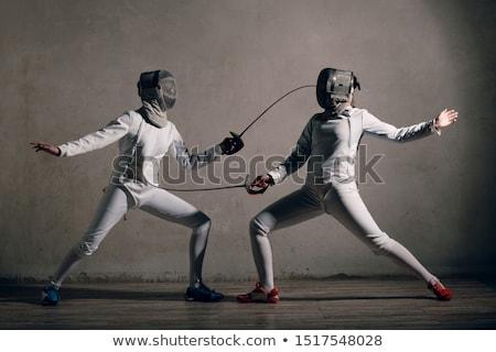 Stock photo: Fencer