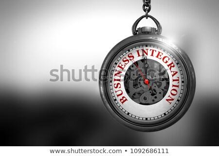 Stockfoto: Business · integratie · zakhorloge · 3d · illustration · horloge · gezicht