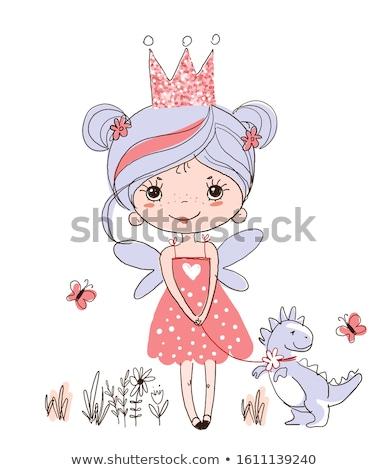 王女 靴 紫色 色 パーティ ポスター ストックフォト © robuart