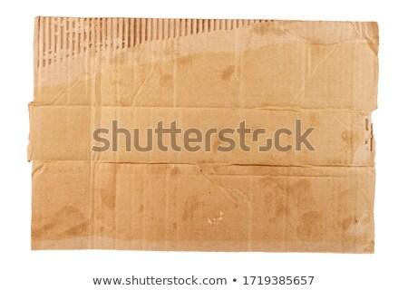 karton · teken · geïsoleerd · witte · hout · vintage - stockfoto © inxti