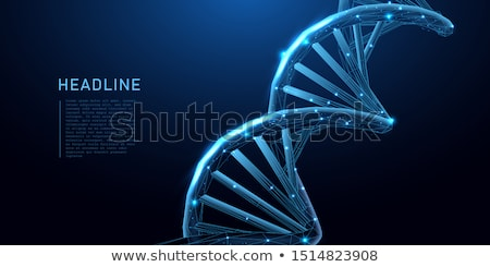 DNA molecule research concept. 3D Stock photo © user_11870380