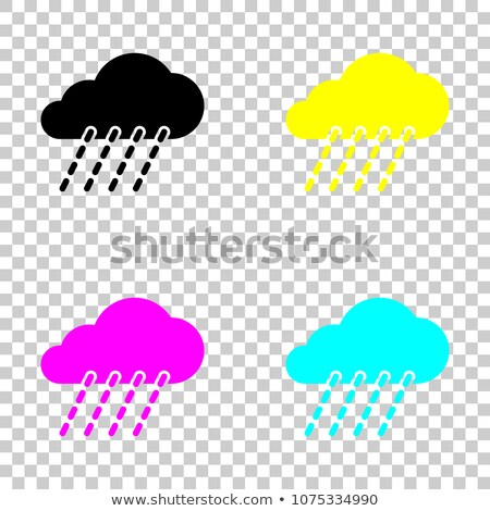 vector illustration of isolated cloud set on transparent background stock photo © articular