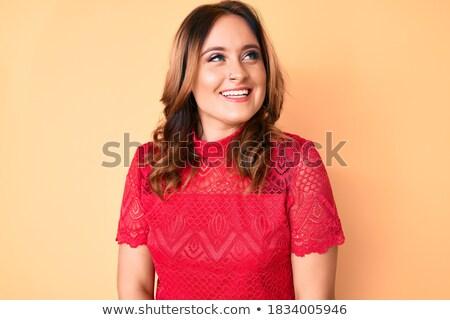jóvenes · mujer · hermosa · sonriendo · retrato · caucásico - foto stock © diego_cervo