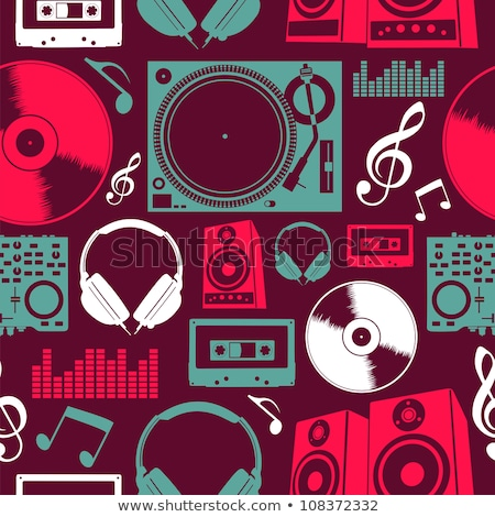 Electronic Dance Music Audio Set Icons stock photo © smith1979