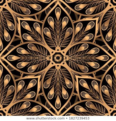 Prémium mandala végtelen minta absztrakt ázsiai klasszikus Stock fotó © SArts