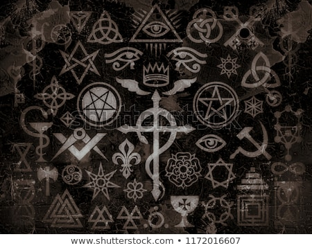 médiévale · occulte · signes · magie · timbres · vintage - photo stock © Glasaigh