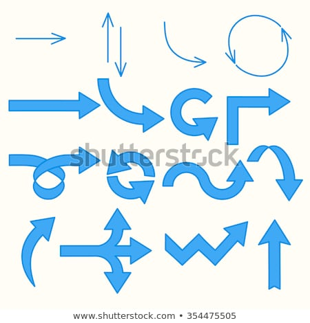 blue arrow isolated curve vector icon stock photo © essl