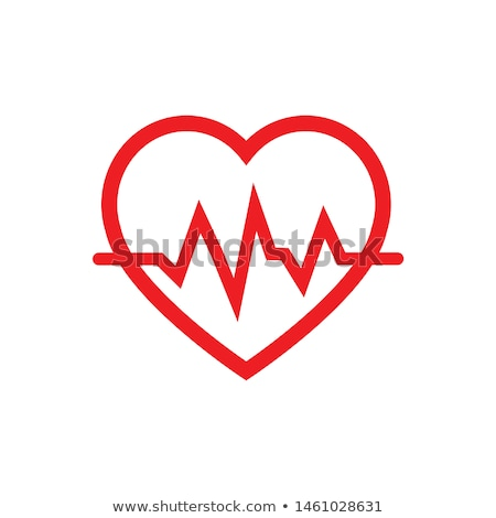 Red Heart With Heartbeat Pulse Stock photo © AndreyPopov