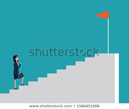 Carriere ontwikkeling zakenlieden klim groei kolom Stockfoto © RAStudio