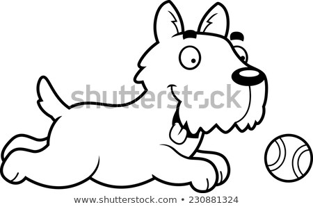 cartoon · jack · russell · terrier · bal · illustratie · hond · grafische - stockfoto © cthoman