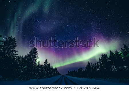 Stock photo: Northern Lights Aurora Over Northern Norway