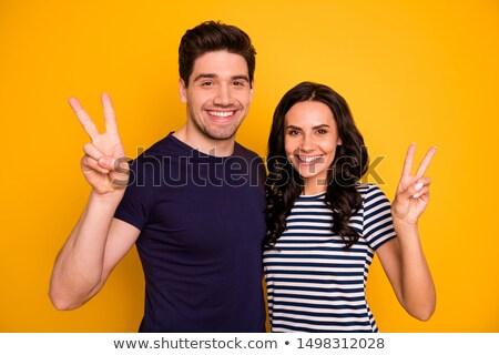 Gelukkig glimlachend jonge hippie paar Stockfoto © dolgachov