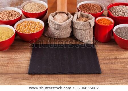 sementes · em · torno · de · moinho · inteiro - foto stock © lightkeeper