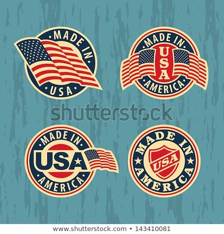 米国 · シール · 米国 · アメリカ · にログイン - ストックフォト © robuart