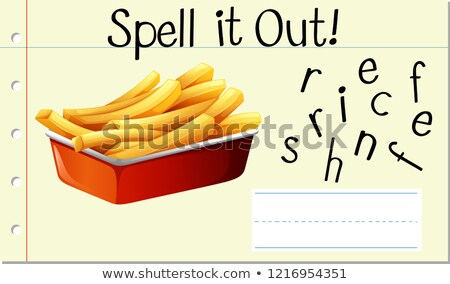 Spell English word french fries Stock photo © bluering