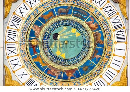 Zodiac clock Stock photo © boggy