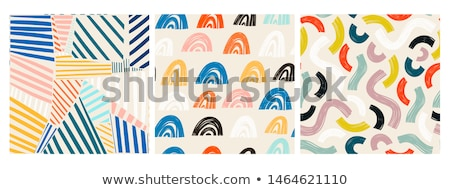 Vector seamless abstract pattern with hand drawn arc shapes. Textured figure. It looks like cloth sc Stock photo © user_10144511