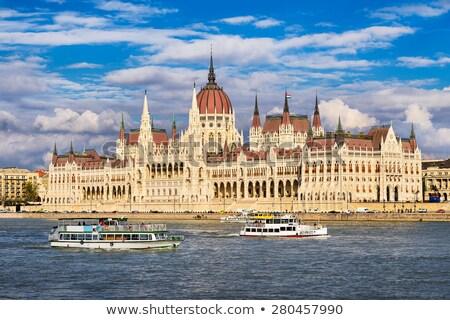 ボート 議会 ハンガリー語 日没 ブダペスト ストックフォト © Givaga