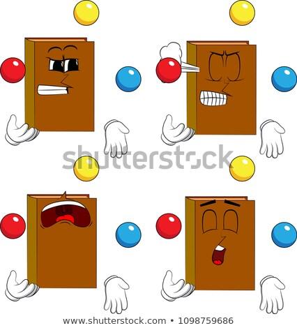 Cartoon scherzo libro annoiato illustrazione guardando Foto d'archivio © cthoman