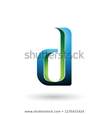 Zöld kék d betű vektor illusztráció izolált Stock fotó © cidepix