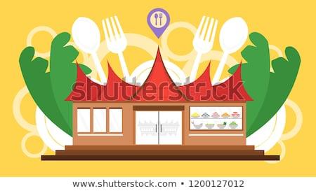 Culinária turismo turistas comer como local Foto stock © RAStudio