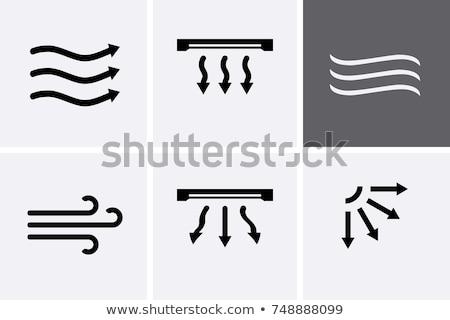eléctrica · ventilador · blanco · metal · azul · viento - foto stock © blaskorizov
