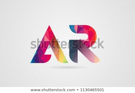 letter a and r combination ar logo vector icon Stock photo © blaskorizov