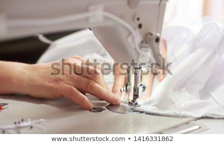 Vrouw kleding naaimachine portret elektrische ontwerp Stockfoto © Kzenon