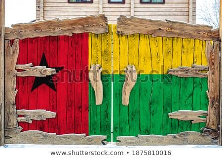 家 フラグ ギニア 白 住宅 ストックフォト © MikhailMishchenko