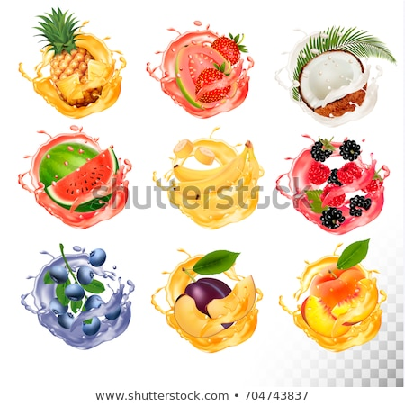 coconut and strawberry illustration stock photo © conceptcafe