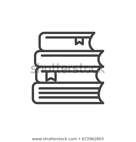 Book line icon, outline vector sign. Symbol, logo illustration. Editable stroke. Vector illustration Stock photo © kyryloff