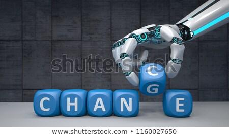 Robot Hand Change Chance Stock photo © limbi007