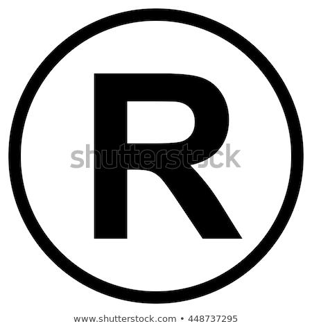 登録された · 商標 · 漫画 · シンボル · 白 · 3次元の図 - ストックフォト © andreypopov