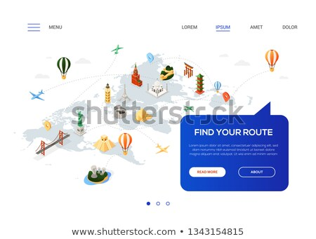 find your route   colorful isometric web banner stock photo © decorwithme
