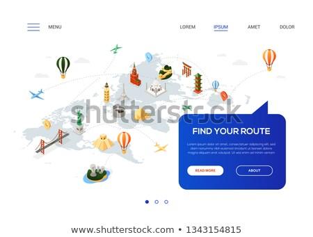 Encontrar ruta colorido web banner Foto stock © Decorwithme