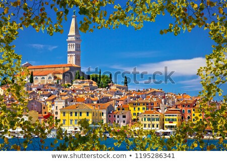 Town of Rovinj ancient architecture and waterfront view stock photo © xbrchx