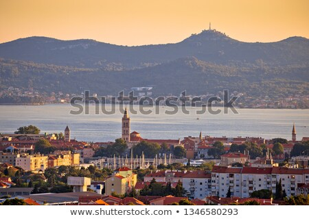 dalmatien · ville · panoramique · vue · île · Croatie - photo stock © xbrchx