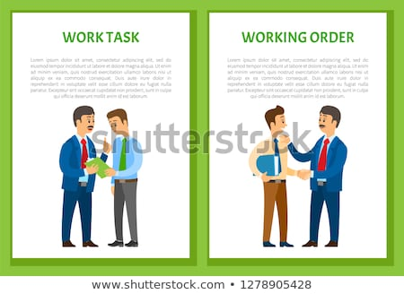 work task and worker control boss give instruction stok fotoğraf © robuart