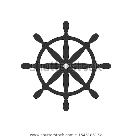 vector flat boat handwheel ship wheel helm foto d'archivio © vetrakori