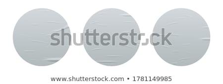 Set of blank stickers stock photo © lemony