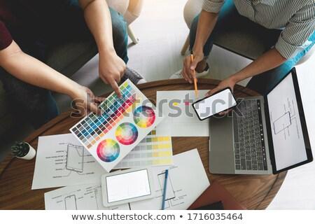 Color paleta grupo Foto stock © AndreyPopov