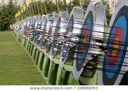 Boogschieten concurrentie illustratie sport silhouet wapen Stockfoto © adrenalina