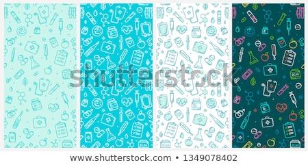 Drogas ícone padrão pílulas projeto médico Foto stock © netkov1