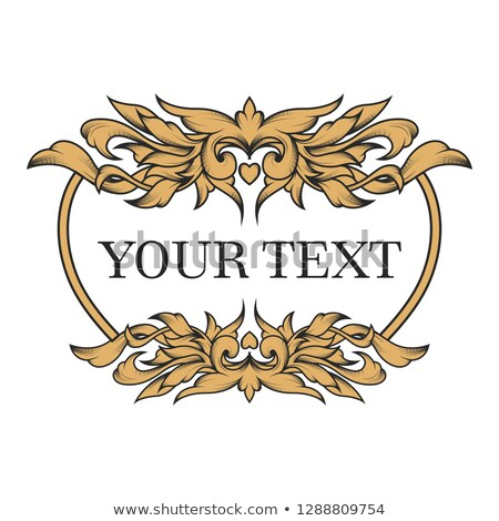 Vintage ornamented pattern Vector. Old style Victorian flourish  Stock photo © frimufilms
