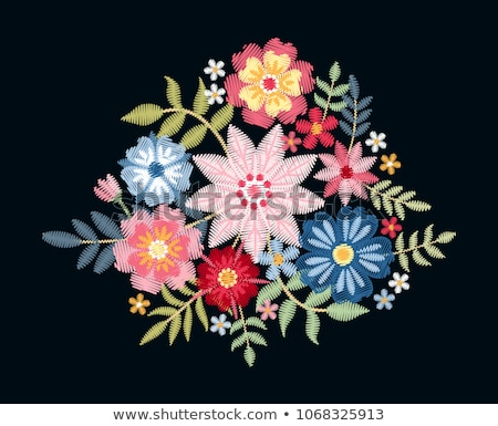 Mooie boeket bloemen borduurwerk ontwerp communie Stockfoto © Margolana