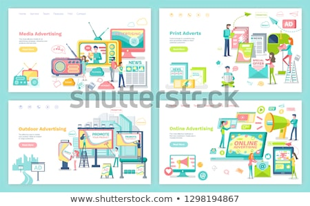 Media and Outdoor Advertising Web Page or Site Stock photo © robuart