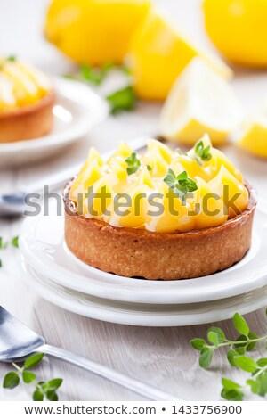 自家製 レモン パイ オーガニック レモン オレガノ ストックフォト © mpessaris
