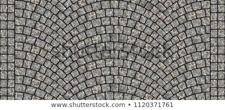 Pavés texture vue gris ville Photo stock © boggy