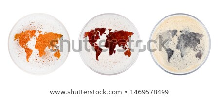 Glasses of red ale stout and lager beer top earth Stock photo © DenisMArt